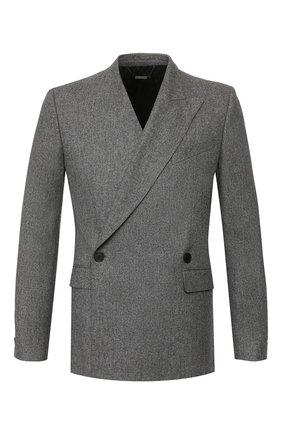 Мужской шерстяной пиджак GIVENCHY серого цвета, арт. BM307F12HC   Фото 1