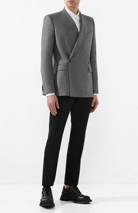 Мужской шерстяной пиджак GIVENCHY серого цвета, арт. BM307F12HC   Фото 2