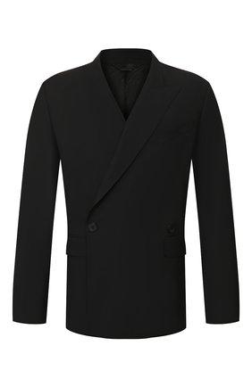 Мужской шерстяной пиджак GIVENCHY черного цвета, арт. BM307F1005 | Фото 1