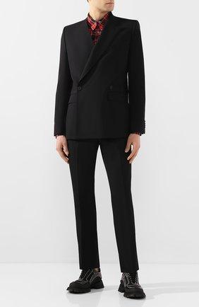 Мужской шерстяной пиджак GIVENCHY черного цвета, арт. BM307F1005 | Фото 2