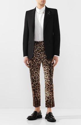Мужской шерстяной пиджак GIVENCHY черного цвета, арт. BM306Q1005 | Фото 2