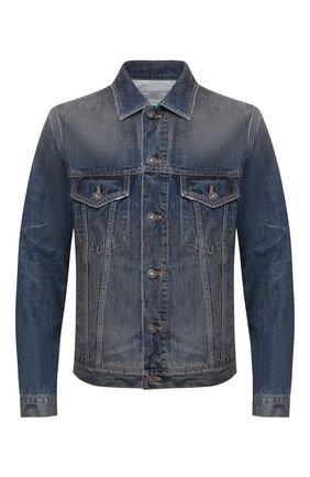 Мужская джинсовая куртка GIVENCHY синего цвета, арт. BM00CY50CN | Фото 1