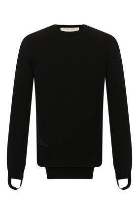 Мужской хлопковый свитер 1017 ALYX 9SM черного цвета, арт. AAMKN0054YA01 | Фото 1