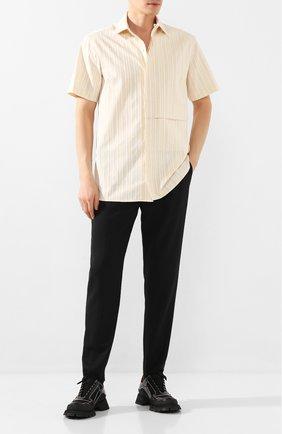 Мужской шерстяные брюки 1017 ALYX 9SM черного цвета, арт. AAMPA0097FA03 | Фото 2