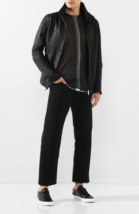 Мужская кожаная куртка ISAAC SELLAM черного цвета, арт. CYCL0PE-PLUME | Фото 2