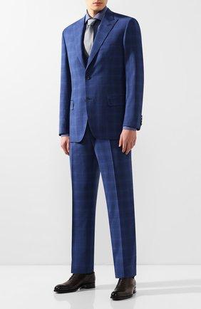 Мужской шерстяной костюм-тройка BRIONI синего цвета, арт. RSH218/P9A1E/PLAT0NE/G | Фото 1