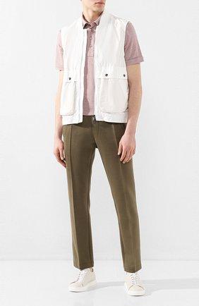 Мужской жилет Z ZEGNA белого цвета, арт. VU008/ZZ065 | Фото 2 (Мужское Кросс-КТ: Верхняя одежда; Материал внешний: Синтетический материал; Материал подклада: Синтетический материал; Длина (верхняя одежда): Короткие; Кросс-КТ: Куртка; Стили: Кэжуэл)