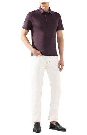 Мужское льняное поло ERMENEGILDO ZEGNA фиолетового цвета, арт. UU564/723 | Фото 2