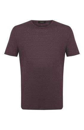 Мужская льняная футболка ERMENEGILDO ZEGNA фиолетового цвета, арт. UU564/706 | Фото 1