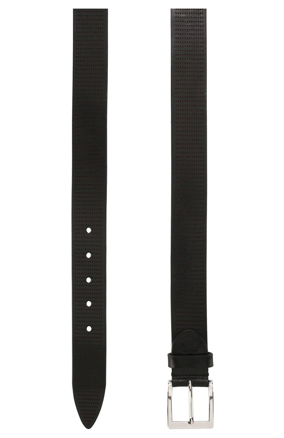 Мужской кожаный ремень CANALI черного цвета, арт. 50C/KA00269 | Фото 2