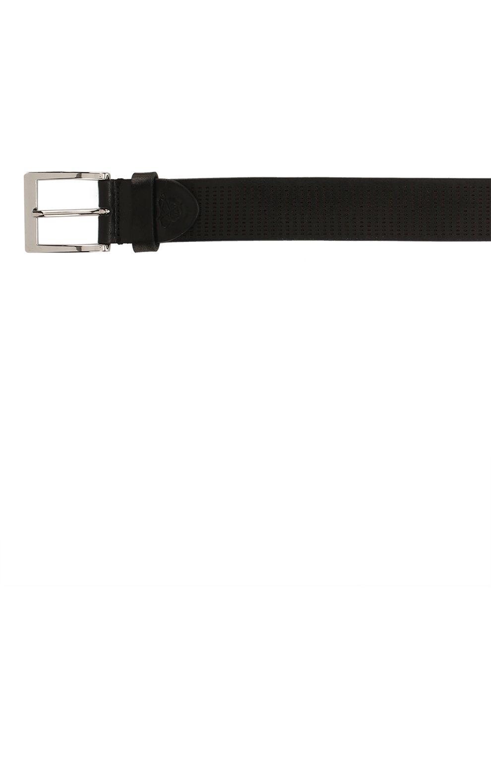 Мужской кожаный ремень CANALI черного цвета, арт. 50C/KA00269 | Фото 3