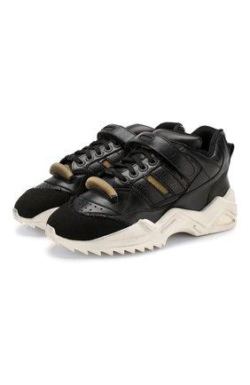 Мужские кожаные кроссовки retro fit MAISON MARGIELA черного цвета, арт. S37WS0490/P2082 | Фото 1 (Материал внутренний: Текстиль, Натуральная кожа; Подошва: Массивная; Стили: Гранж)