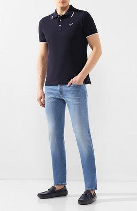 Мужские кожаные мокасины TOD'S темно-синего цвета, арт. XXM24C0CW000IL | Фото 2