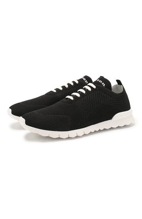 Мужские текстильные кроссовки KITON черного цвета, арт. USSFITSN00609 | Фото 1