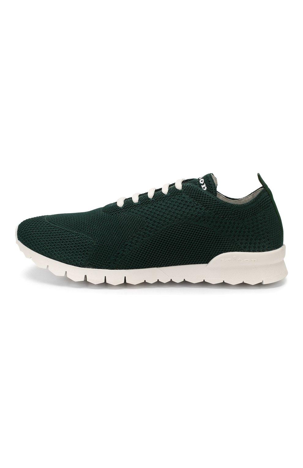 Мужские текстильные кроссовки KITON зеленого цвета, арт. USSFITSN00609 | Фото 3