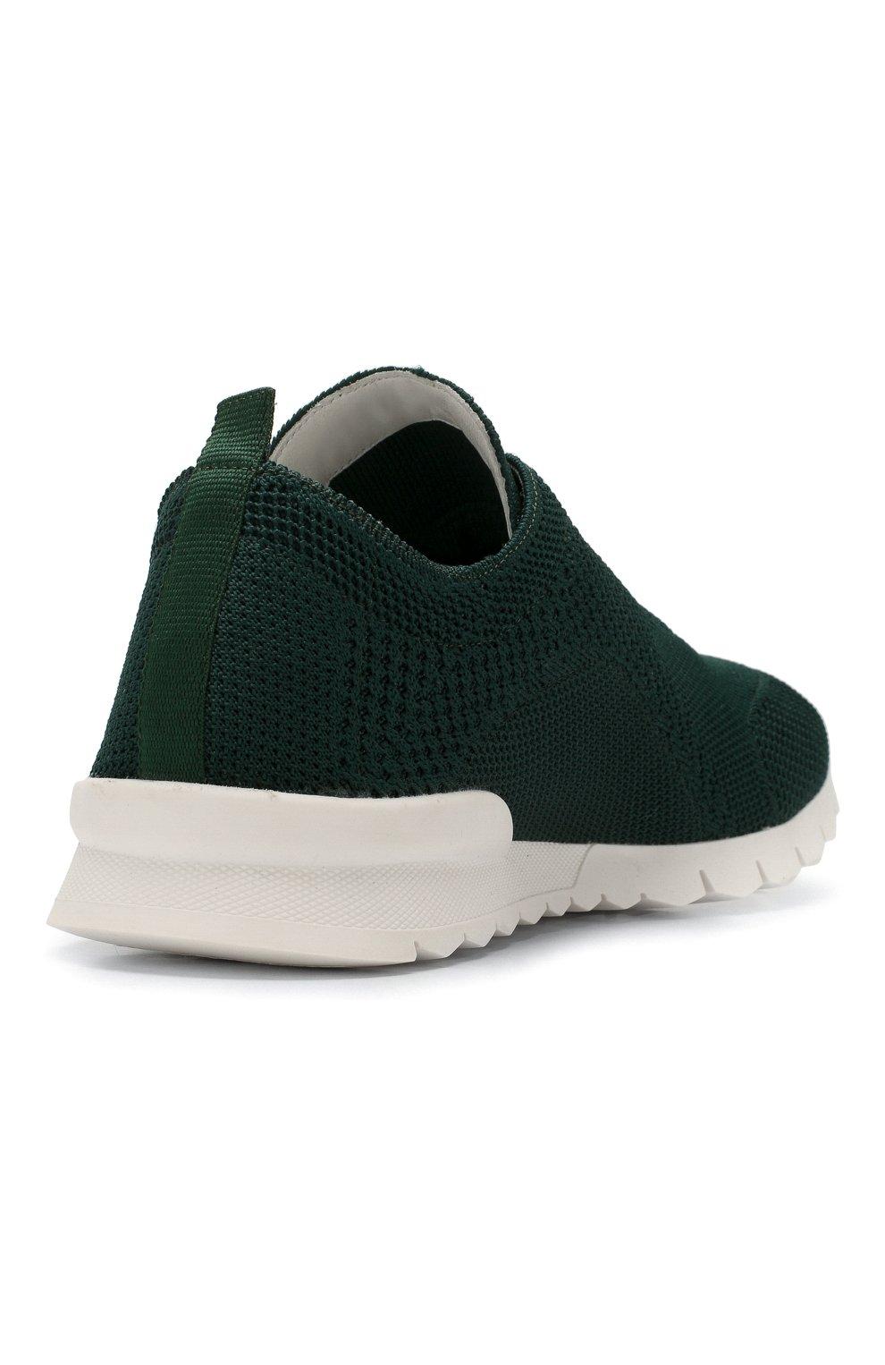 Мужские текстильные кроссовки KITON зеленого цвета, арт. USSFITSN00609 | Фото 4