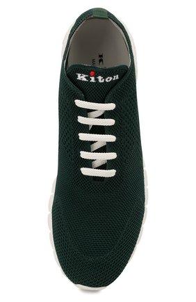 Мужские текстильные кроссовки KITON зеленого цвета, арт. USSFITSN00609 | Фото 5