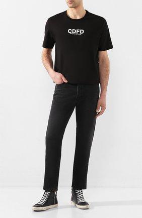 Мужские кожаные кеды slide GOLDEN GOOSE DELUXE BRAND черного цвета, арт. G36MS595.A92 | Фото 2