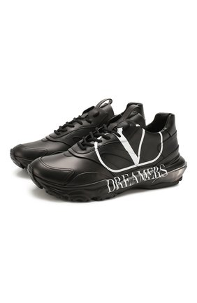 Кожаные кроссовки Valentino Garavani Bounce   Фото №1