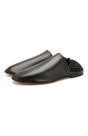 Мужские кожаные слиперы BOTTEGA VENETA черного цвета, арт. 620303/VBTQ0 | Фото 1