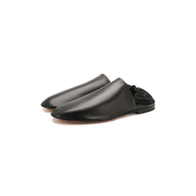 Кожаные слиперы Bottega Veneta — Кожаные слиперы