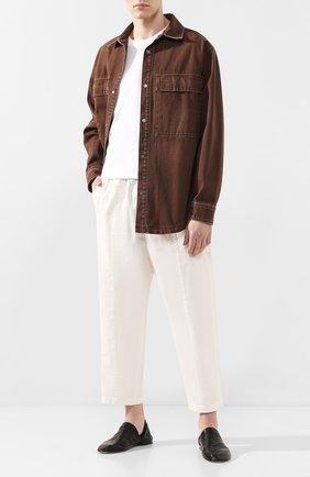 Мужские кожаные слиперы BOTTEGA VENETA черного цвета, арт. 620303/VBTQ0 | Фото 2