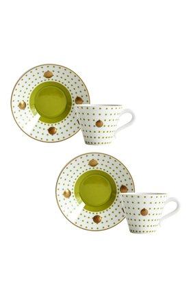 Мужского набор из двух чашек с блюдцами BERNARDAUD зеленого цвета, арт. 1776/22967 | Фото 1