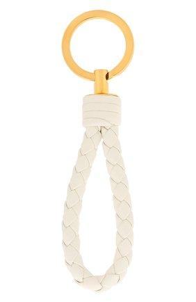 Женский кожаный брелок для ключей BOTTEGA VENETA белого цвета, арт. 608783/V00BG | Фото 2