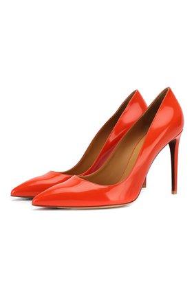 Женские кожаные туфли celia RALPH LAUREN оранжевого цвета, арт. 800791764 | Фото 1