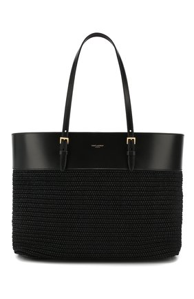 Женская сумка-шопер boucle medium SAINT LAURENT черного цвета, арт. 608962/90B8J | Фото 1