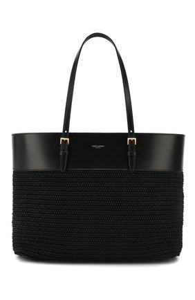 Женский сумка-шопер boucle medium SAINT LAURENT черного цвета, арт. 608962/90B8J | Фото 1