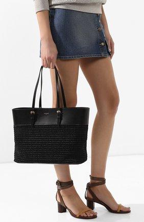 Женская сумка-шопер boucle medium SAINT LAURENT черного цвета, арт. 608962/90B8J | Фото 2