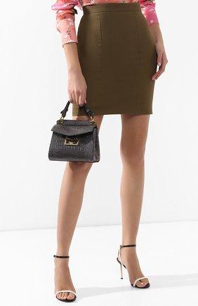 Женская сумка mystic mini GIVENCHY серого цвета, арт. BB50C3B0LK | Фото 2
