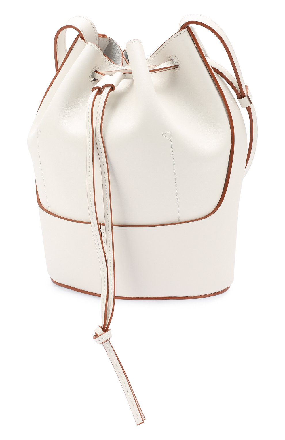 Женская сумка balloon small LOEWE белого цвета, арт. 326.75AC31   Фото 3 (Сумки-технические: Сумки через плечо; Материал: Натуральная кожа; Ремень/цепочка: На ремешке; Размер: small)