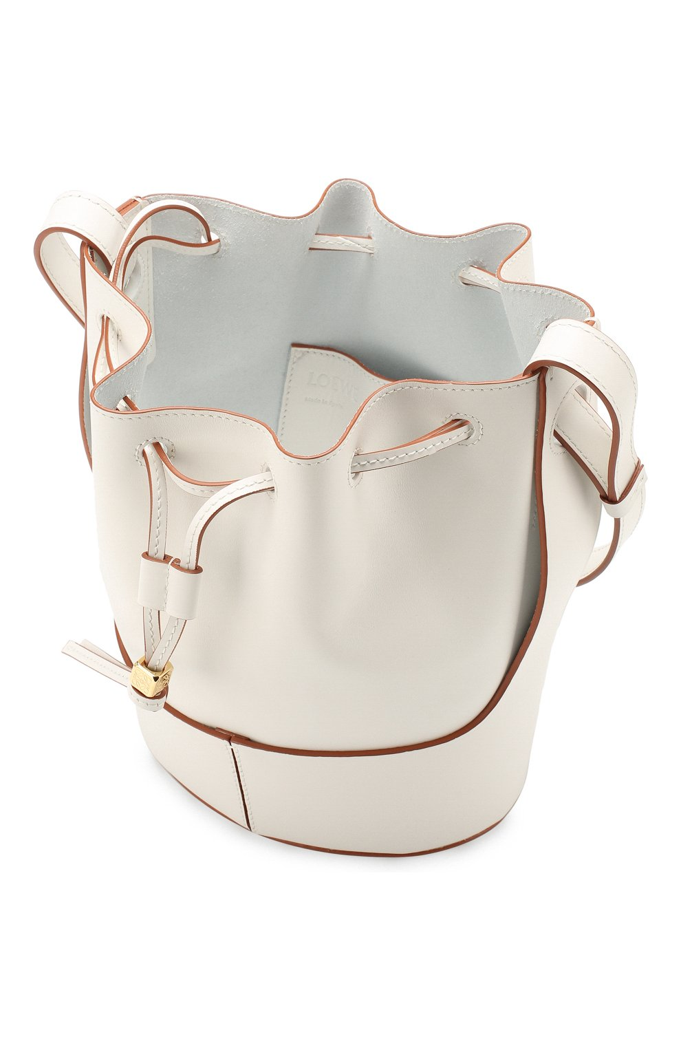 Женская сумка balloon small LOEWE белого цвета, арт. 326.75AC31   Фото 4 (Сумки-технические: Сумки через плечо; Материал: Натуральная кожа; Ремень/цепочка: На ремешке; Размер: small)