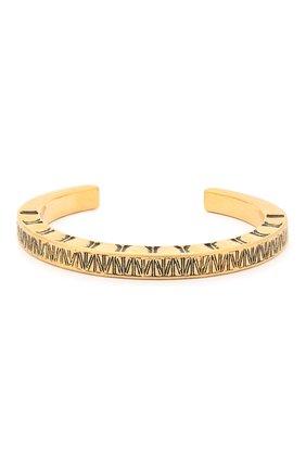 Женский браслет-кафф SAINT LAURENT золотого цвета, арт. 603771/Y1500 | Фото 1