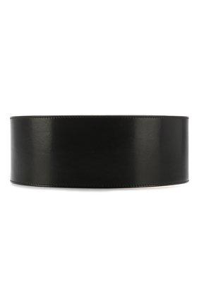 Женский кожаный пояс ALEXANDER MCQUEEN черного цвета, арт. 558452/1BR0T | Фото 2 (Кросс-КТ: Широкие)