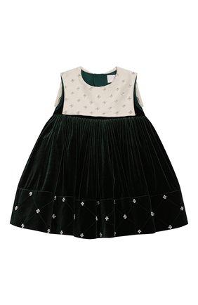 Детское платье BIBIONA темно-зеленого цвета, арт. ABS13SS20T | Фото 1