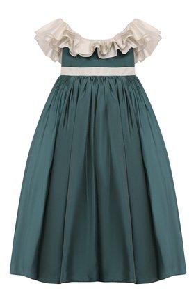 Детское платье BIBIONA зеленого цвета, арт. ABS8FW15T | Фото 1