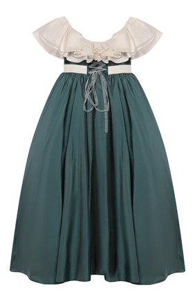 Детское платье BIBIONA зеленого цвета, арт. ABS8FW15T | Фото 2