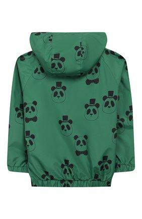 Детского куртка с капюшоном MINI RODINI зеленого цвета, арт. 20210100 | Фото 2
