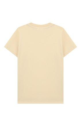 Детская хлопковая футболка MINI RODINI белого цвета, арт. 20220141 | Фото 2