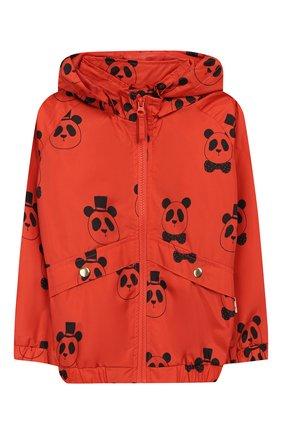 Детского куртка с капюшоном MINI RODINI оранжевого цвета, арт. 20210100 | Фото 1