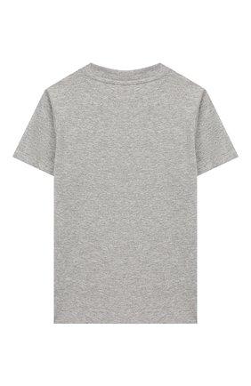 Детская хлопковая футболка MINI RODINI серого цвета, арт. 20220141 | Фото 2