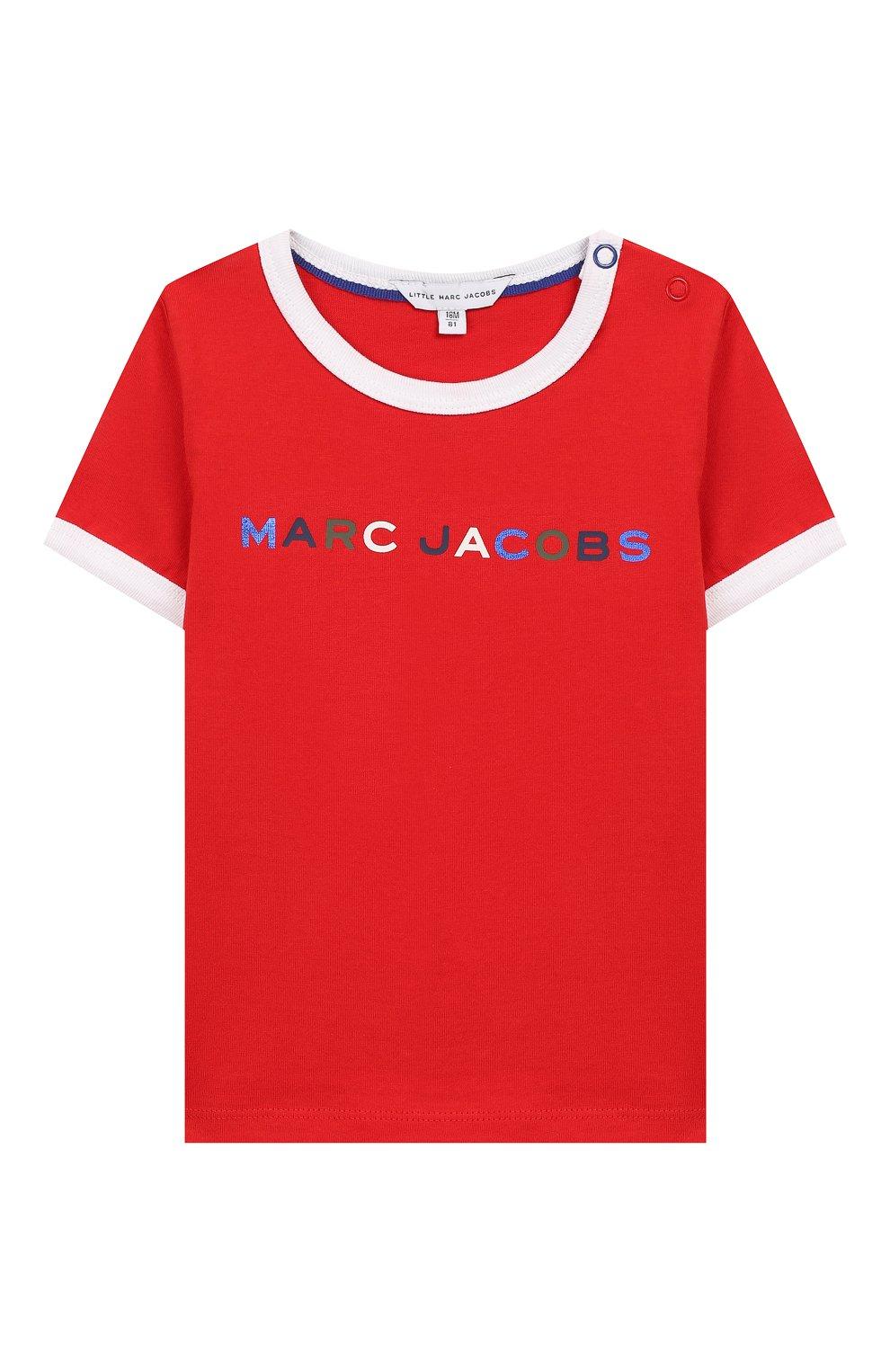 Детский хлопковая футболка MARC JACOBS (THE) красного цвета, арт. W05278   Фото 1