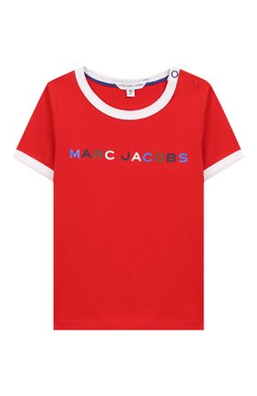 Детский хлопковая футболка MARC JACOBS (THE) красного цвета, арт. W05278 | Фото 1