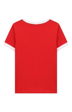Детский хлопковая футболка MARC JACOBS (THE) красного цвета, арт. W05278 | Фото 2