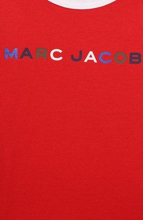 Детский хлопковая футболка MARC JACOBS (THE) красного цвета, арт. W05278   Фото 3