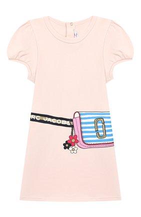 Женский хлопковое платье MARC JACOBS (THE) светло-розового цвета, арт. W02138 | Фото 1