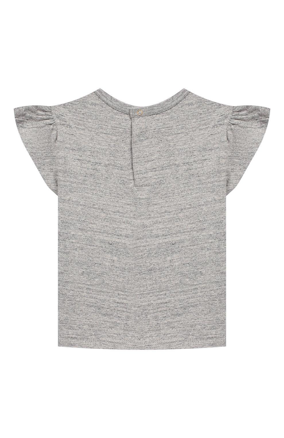 Детский хлопковая футболка MARC JACOBS (THE) серого цвета, арт. W05273   Фото 2
